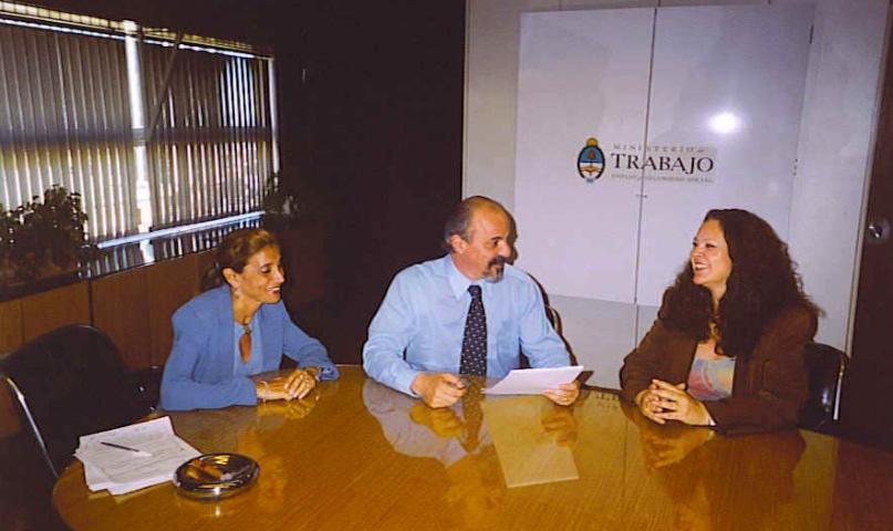 onia Boiarov en 2007 con el ministro Carlos Tomada, durante la elaboración del proyecto de ley de teletrabajo.